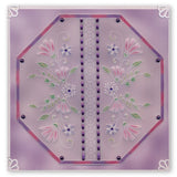 Tina's Floral Swirls & Corners 1 <br/>A4 Square Groovi Plate