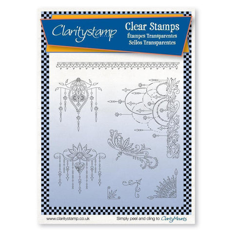 Tina's Henna Droplets Unmounted Clear Stamp Set
