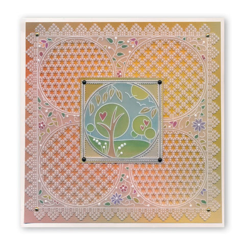 A5 Square Floral Background /& Tina/'s Layering Collection Clarity Stamps