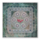 Tina's Doodle Love Hearts A5 Square & Groovi Border Plate Set