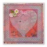 Tina's Doodle Love Hearts <br/>A5 Square & Groovi Border Plate Set