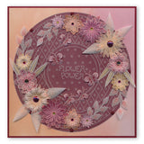 Tina's 3D Flowers & Butterflies <br/>A4 Square Groovi Plate