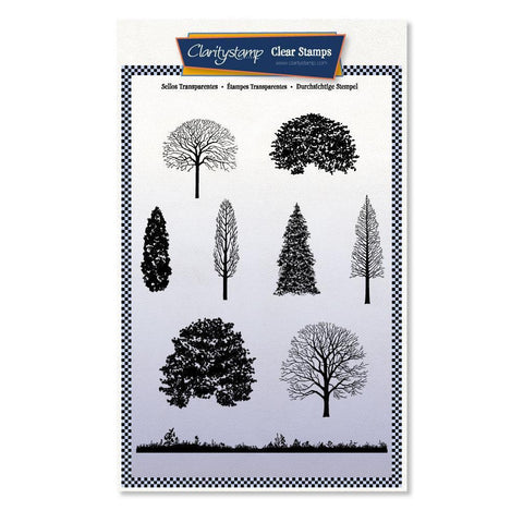 Trees and Their Mantles Unmounted Clear Stamp Set
