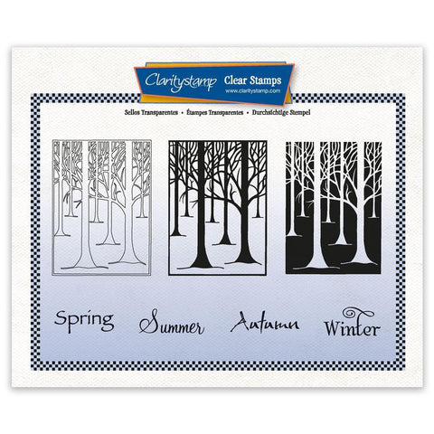 Treescape 3-way Overlay Stamp Set