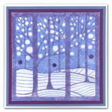 "Treescape & Snowy Treescape Stencils 7"" x 7"" (Set of 2)"