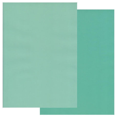 Turquoise & Light Turquoise x10 <br/>Groovi Two Tone Parchment Paper A4