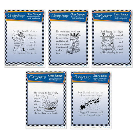 Twas the Night 11-15 - Set 3 - Fine Line <br/>Unmounted Clear Stamp Set
