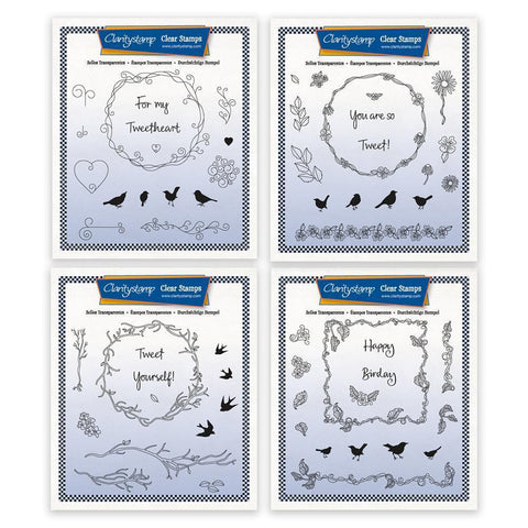 Tweet Sayings & Frames A5 Square Stamp Collection