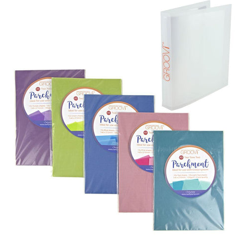 A5 Two Tone Parchment Bundle + Free A5 Groovi Folder