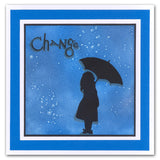 "Umbrella Girls Stencil 7"" x 7"""