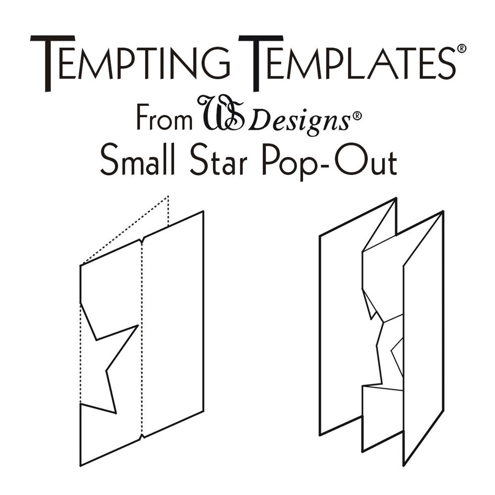 Small star card template – claritystamp.
