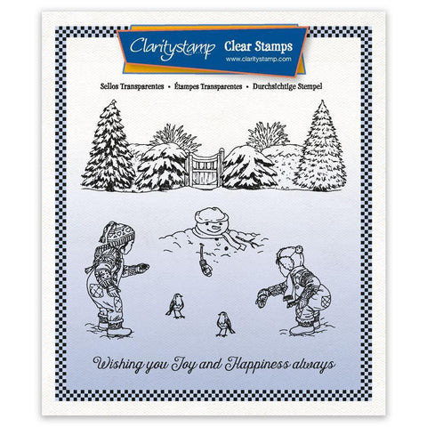 Jayne's Winter Scene - Children A5 Square Unmounted Clear Stamp Set