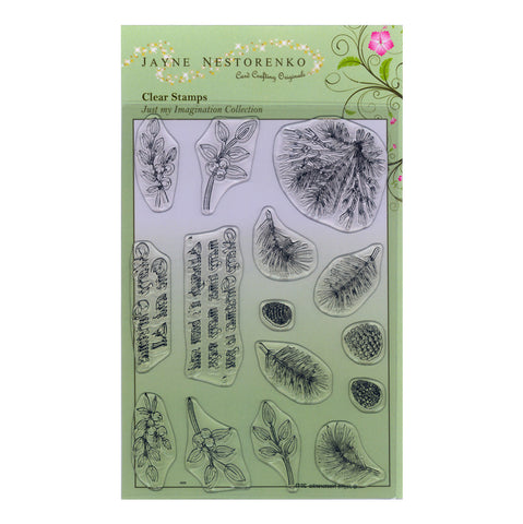 Winter Foliage Accessories <br/>Unmounted Clear Stamp Set