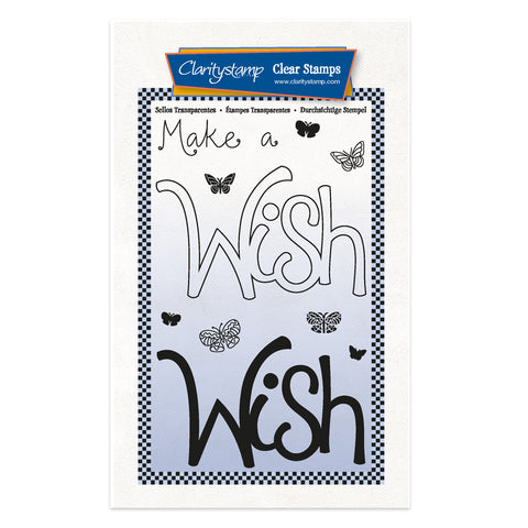 Wish - Feel Good Words 2 Way A6 Stamp & Mask Set