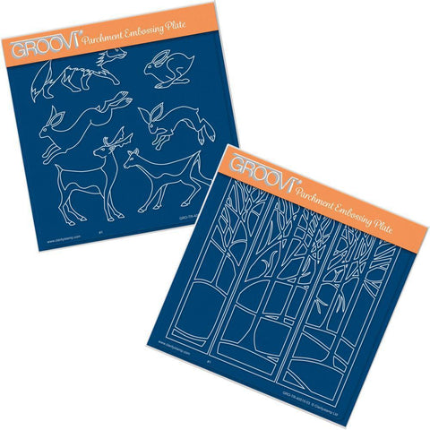 Woodland Animals & Treescape <br/>Groovi Plate Set