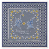 Angels & Stars <br/>A5 Square Groovi Plate <br/>(Set GRO-AL-40495-03)