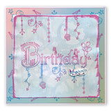 Linda's Birthday Dangles Unmounted Clear Stamp Set