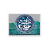 Boating Rounds - Fine Line Trio + MASKS <br/>Unmounted Clear Stamps