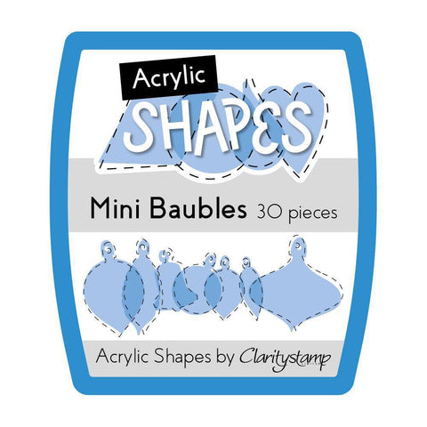 Acrylic Shapes - Mini Assorted Baubles
