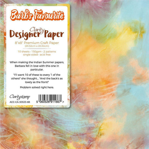 "Barb's Favourite Indian Summer x10 Designer Paper Pack 8"" x 8"""