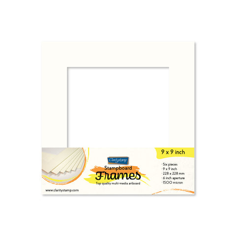 "Set of 6 - 9"" x 9"" Clarity Stampboard Frames"