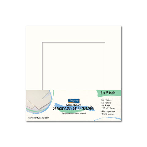 "Set of 6 - 9"" x 9"" Clarity Stampboard Frames & Panels"