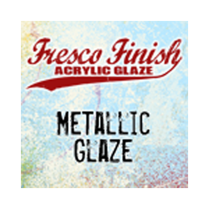 Fresco Finish Acrylic Glaze - Metallic