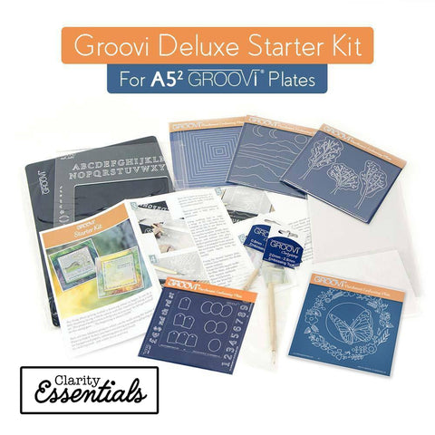 Deluxe Groovi Plate Starter Kit + Butterfly Wreath A5 Square Plate
