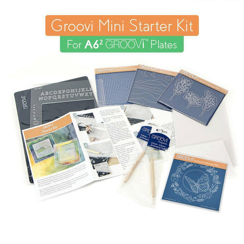 Mini Groovi Starter Kit + Butterfly Wreath A6 Square Plate