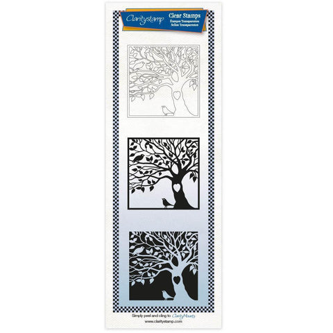 The Happy Couple Three Way Overlay Unmounted Clear Stamp Set
