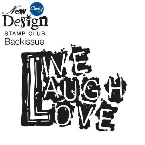 New Design Stamp Club Back Issue 96 - Live Laugh Love