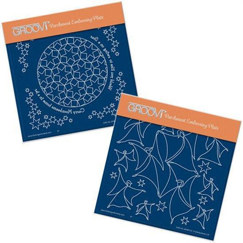 Would You Like To Swing On A Star? <br/> A5 Square Groovi Plates (Set of 2)