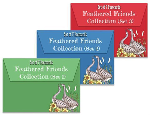 Colouring Postcards - Feathered Friends Collection Sets 1, 2 & 3