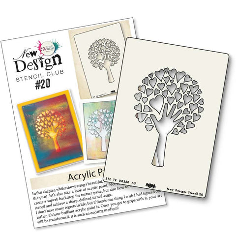 New Design Stencil Club Back Issue 20 - Love Tree