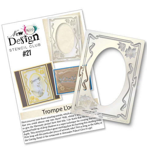 New Design Stencil Club Back Issue 21 - Flower Framer
