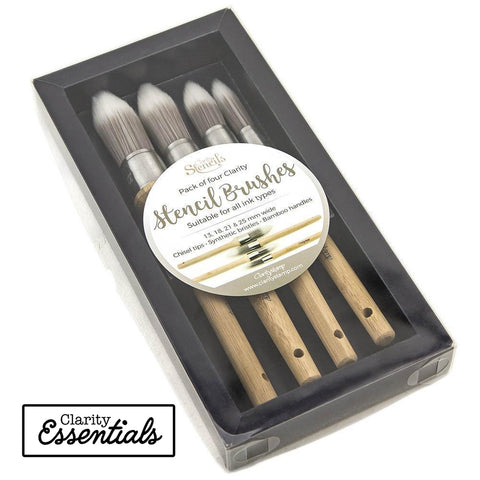 Clarity Stencil Brushes (Set of 4)