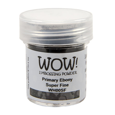 WOW Primary Ebony Super Fine Embossing Powder