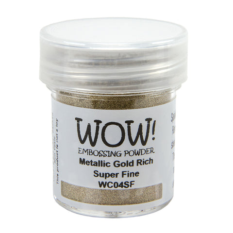 Embossing Powder Super Fine 15ml - Metallic Gold Rich