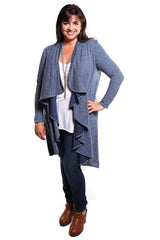 Captive8 House of Fashion Cascade Mid-Length Cardigan Blue