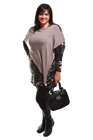Captive8 House of Fashion Jay Jay Top Floral Mocha