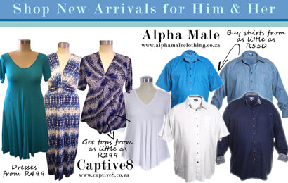 New Arrivals: Alpha Male Clothing & Captive8 House of Fashion