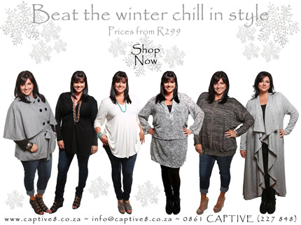 Captive8 plus size styles to shop now to beat the winter chill.