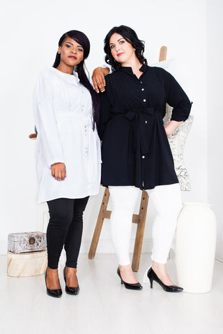 Captive8 House of Fashion Plus Size Penelope Pintuck Long Shirts