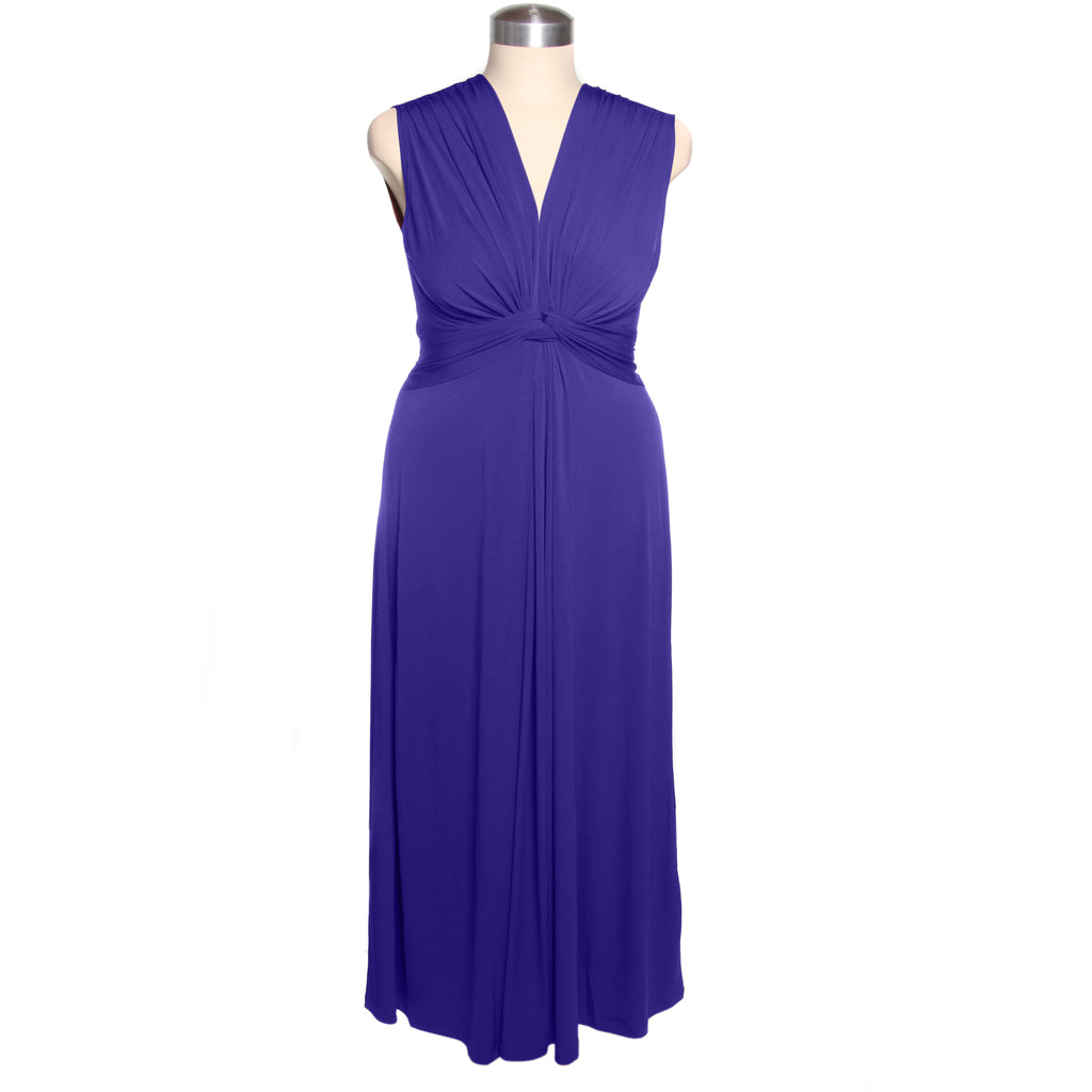 Captive8 House of Fashion Plus Size Sheba Maxi Dress Cobalt