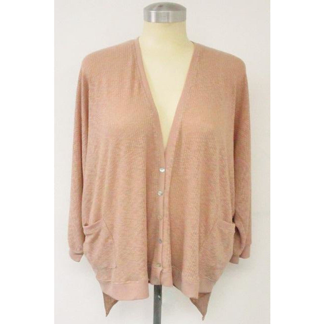 Button Down Cardigan Dusty Pink