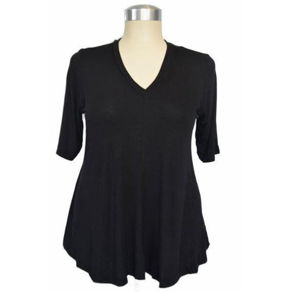 Captive8 House of Fashion plus size black Dee top