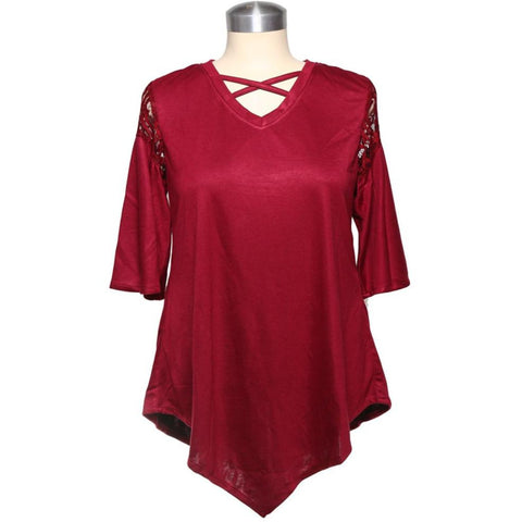 Kriss Kross Top Burgundy