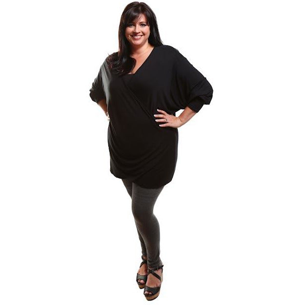 Captive8 House of Fashion Plus Size Leggings Dark Grey Melange