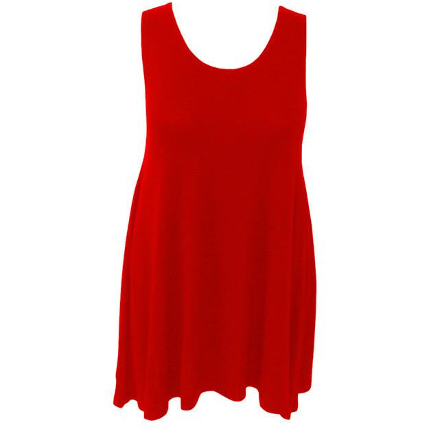 Captive8 House of Fashion Plus Size Talia Tunic Lipstick Red