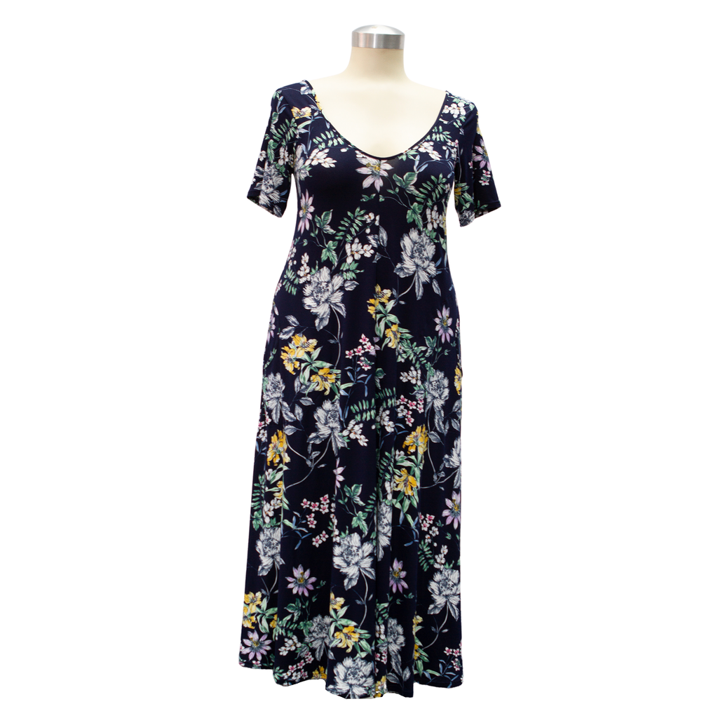 Wianka Dress Long-length Navy Floral Print